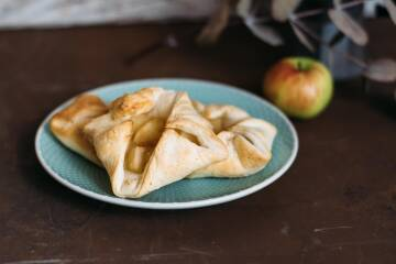 3 Blätterteig apfel gebäck-8