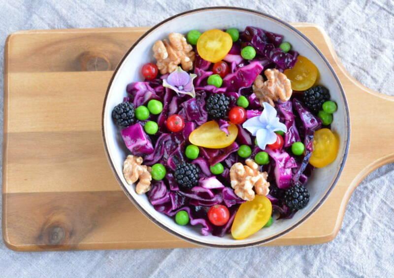 5 am Tag: Rotkohlsalat