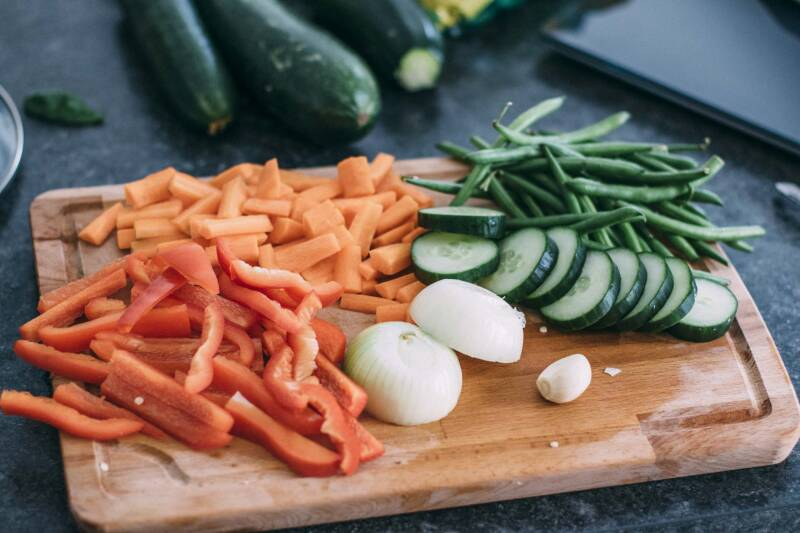 Anleitung Einlegen: Gechnittenes Gemüse