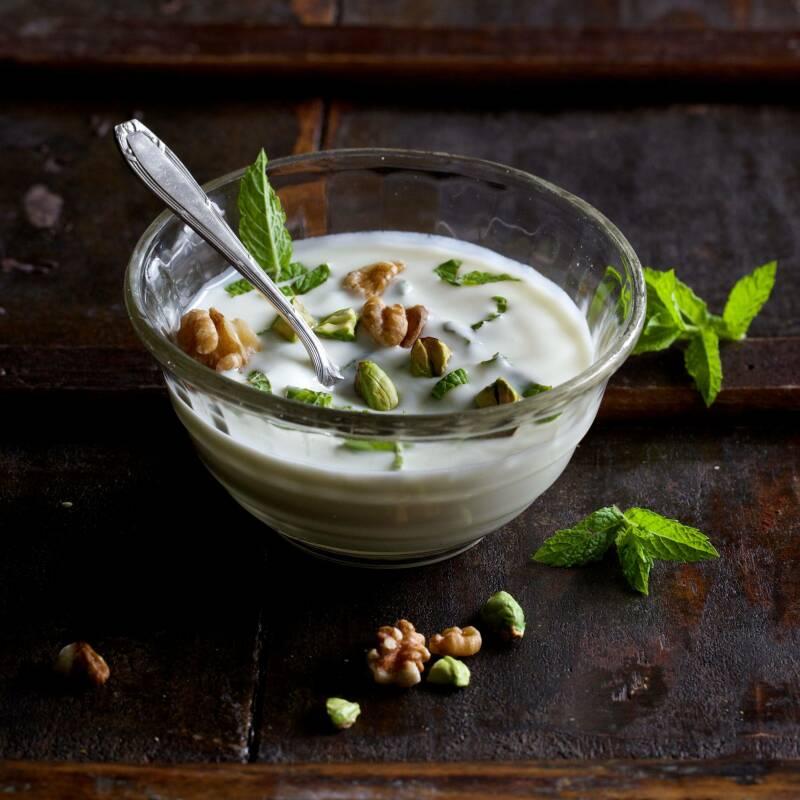 Arabischer Minzjoghurt (Schmid/Mader/Voll)