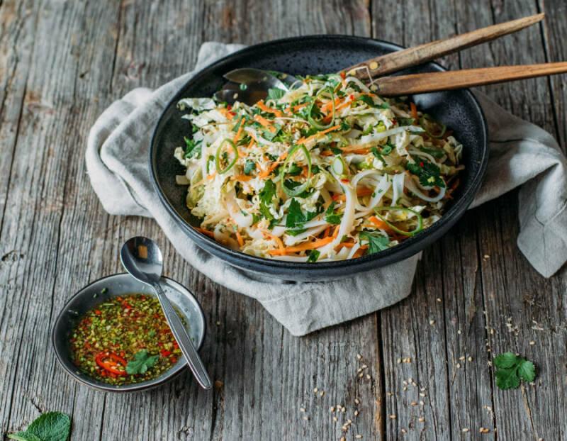 Asiatischer Chinakohlsalat