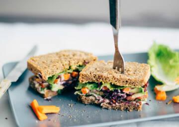 Avocado-Veggie Deluxe Sandwich