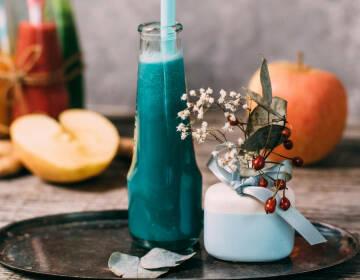 Blauer Vitaminsmoothie