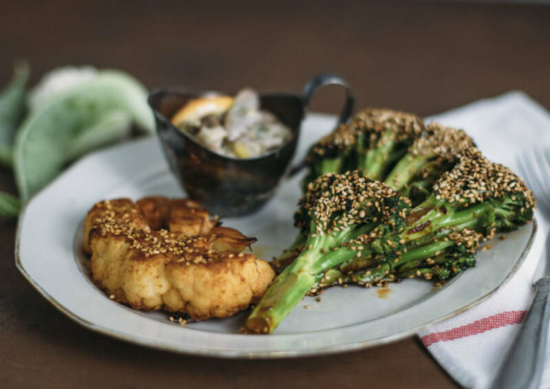 Blumenkohl- und Brokkoli Steaks
