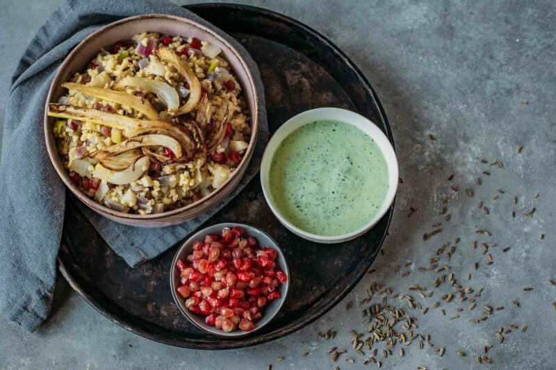 Bulgurpfanne mit Fenchel und Granatapfel