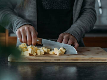 Butter kleinmachen