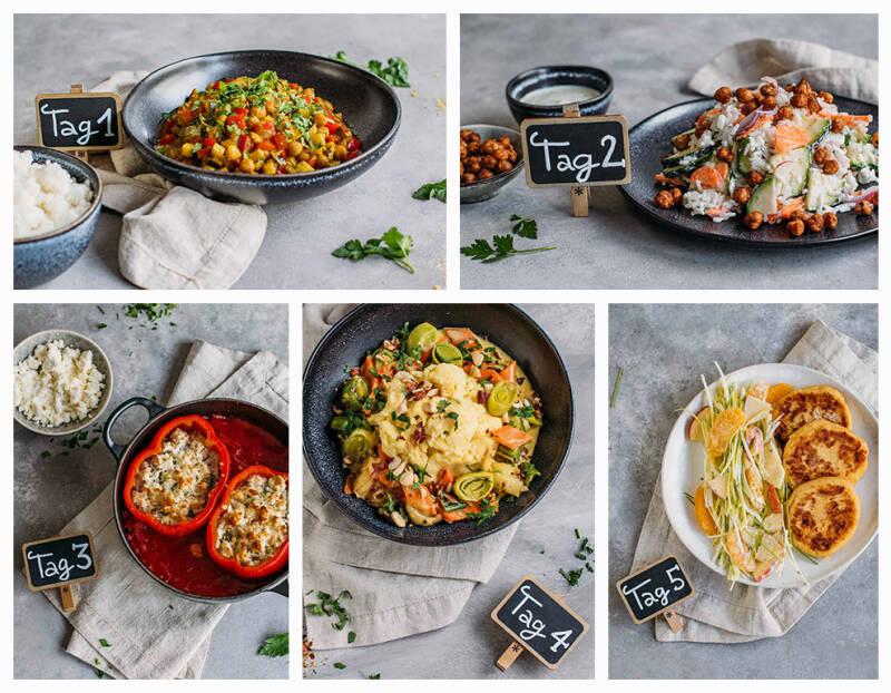Corona Kochplan für 2 Wochen: Frische Gerichte mit wenigen Zutaten