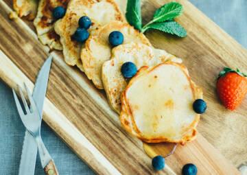 Ei Ersatz beim Frühstück: Pancakes