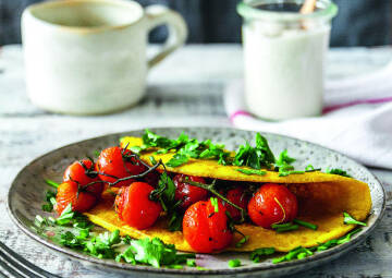 Ei Ersatz beim Frühstück: Tofu omelette