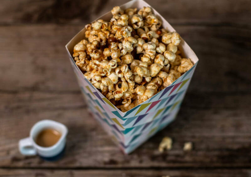 Erdnussbutter Popcorn