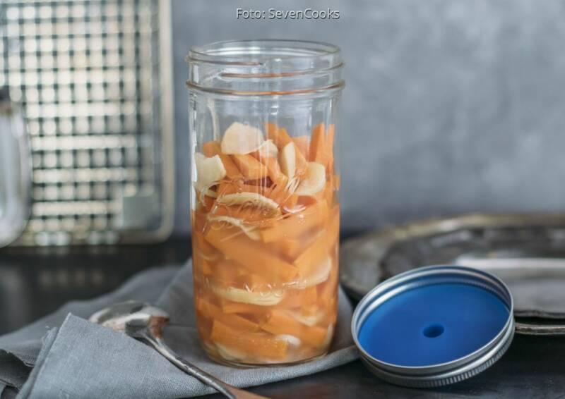 Erkältung ade: fermentierte ingwer karotten