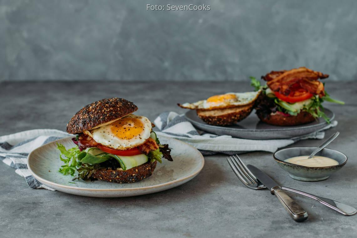 Flexitarisches Rezept: All day Frühstücksburger 1