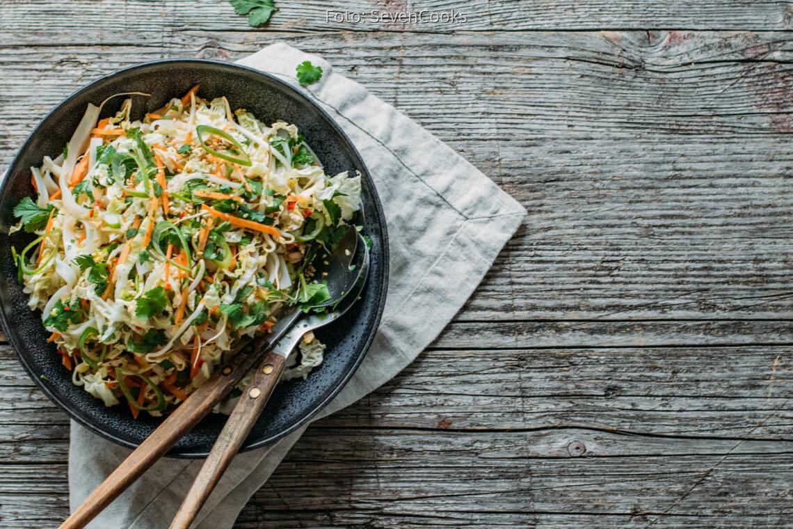 Flexitarisches Rezept: asiatischer Chinakohlsalat 1