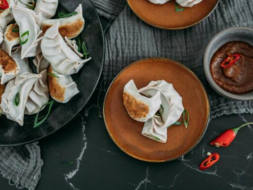 Flexitarisches Rezept: Gyoza-Dumpling mit Garnelen 1