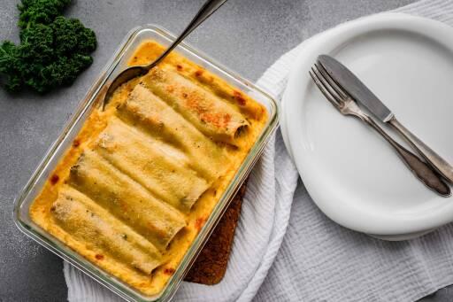 Flexitarisches Rezept: Lachs-Grünkohl-Cannelloni 2