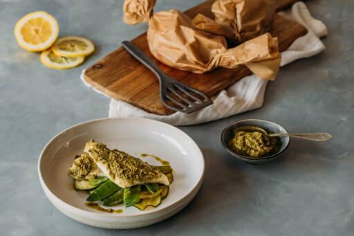 Flexitarisches Rezept: Low Carb Fischpäckchen