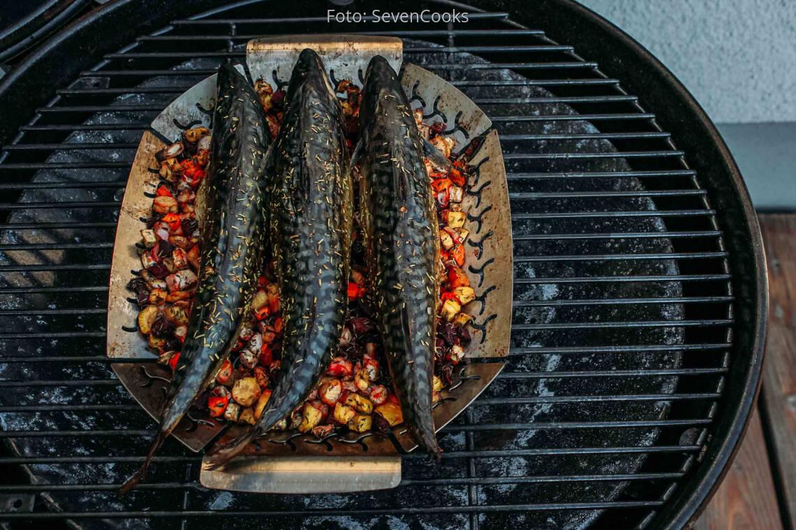 Flexitarisches Rezept: Makrele vom Grill mit Wurzelgemüse 1