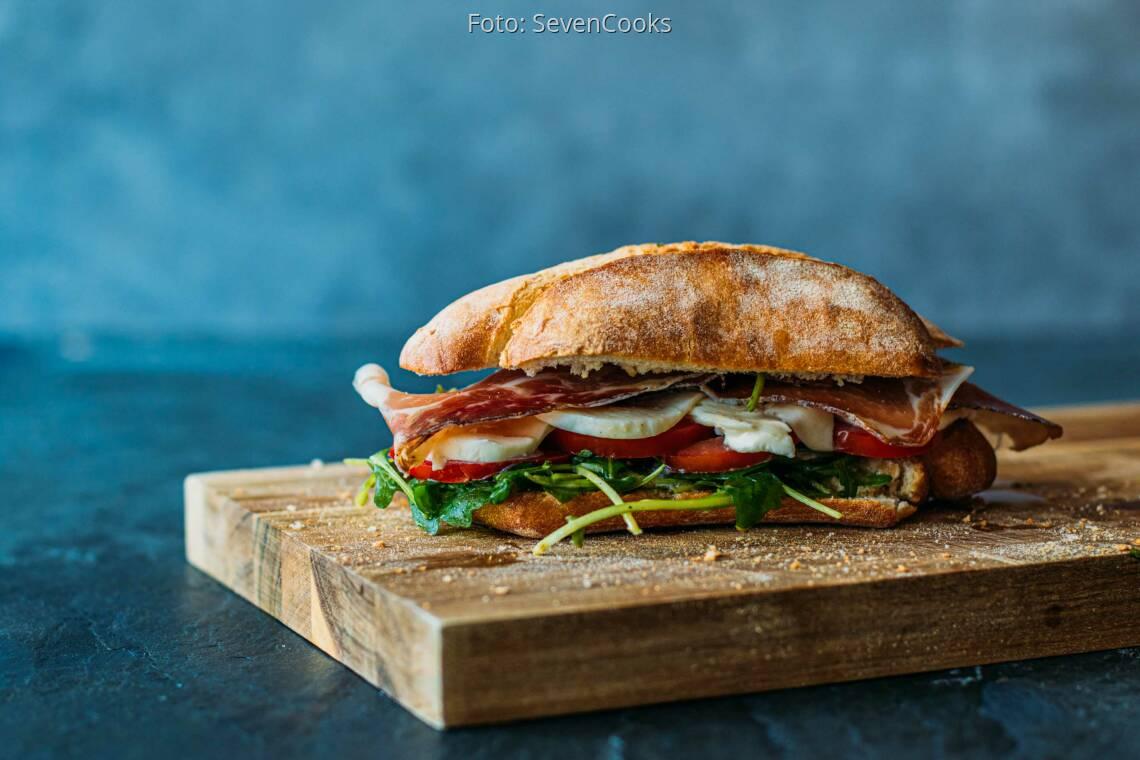 Flexitarisches Rezept: Mediterraner Parma-Sandwich 1