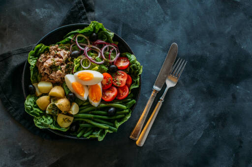 Flexitarisches Rezept: Nizza Salat 1