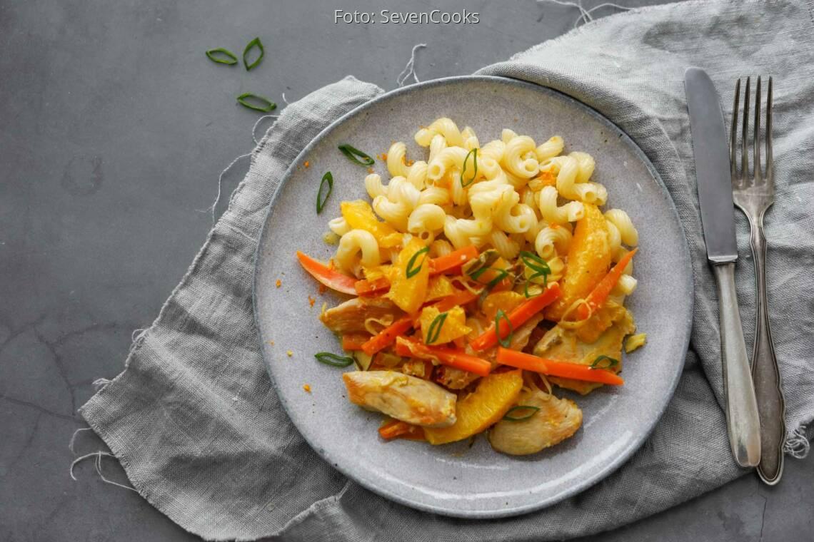 Flexitarisches Rezept: Putengeschnetzeltes mit Karotten-Orangensoße 1