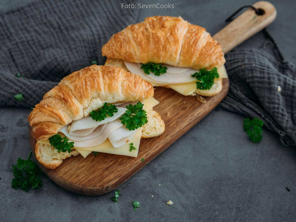 Flexitarisches Rezept: Schinken Käse Croissant 1