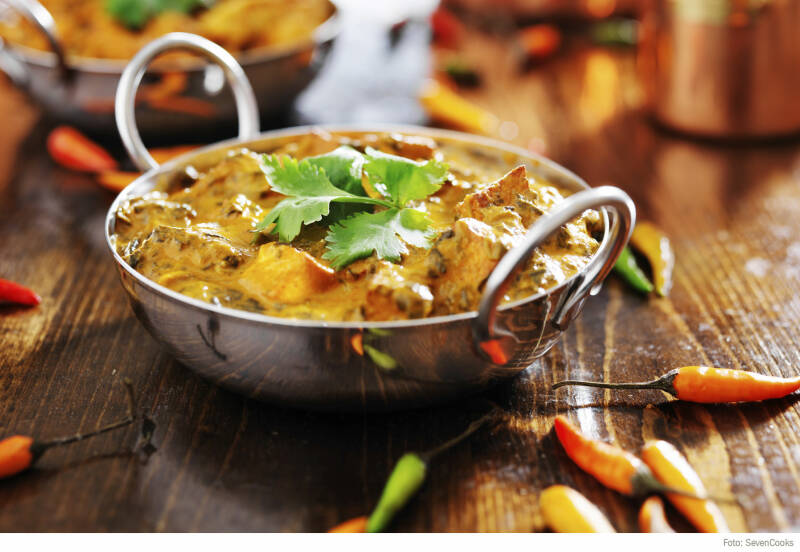 Food Trends - Auberginen Curry vegan