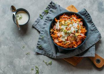 Frischer Karottensalat