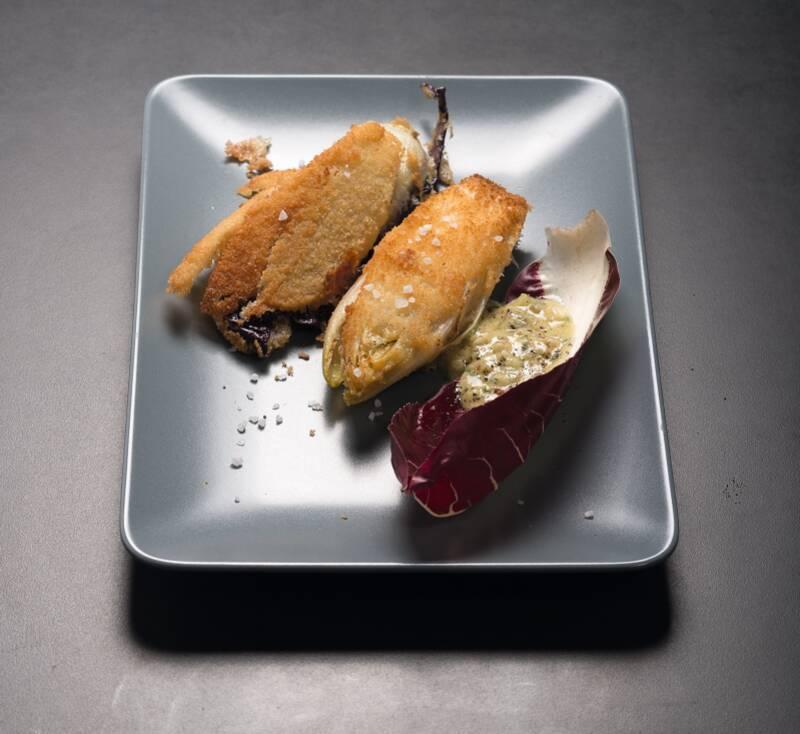 Frittierter Radicchio mit Chicorée