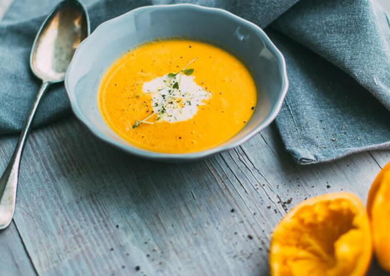 Fruchtige Karotten-Ingwer-Suppe