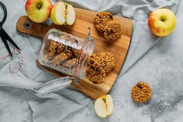 Früchteplätzchen mit Apfel und Karotte