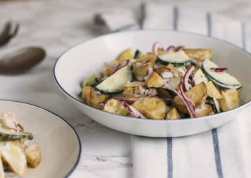 Gebackener Kartoffelsalat mit Joghurtdressing