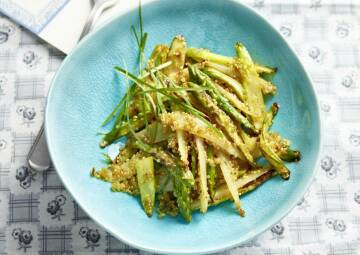 gebratener Spargel mit Quinoa