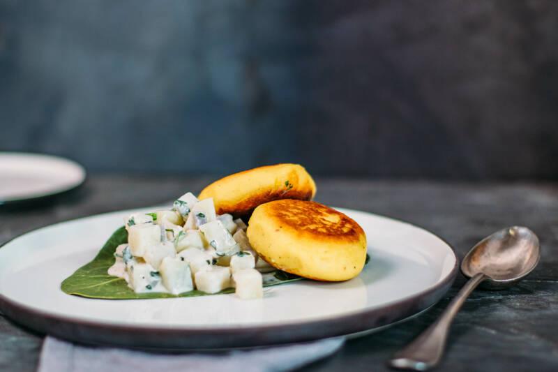 Gefüllte Kartoffelküchlein