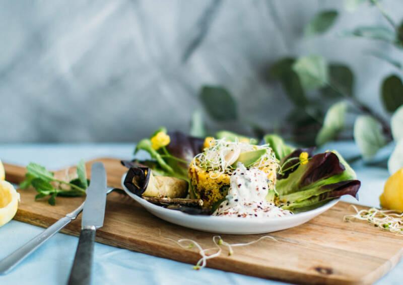 Glutenfreier orientalischer Couscous-Salat