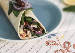 Burritos griechisch gefüllt