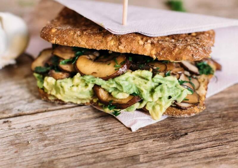 Grilled Mushroom-Sandwich