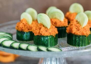 Gurken-Karotten-Canapees