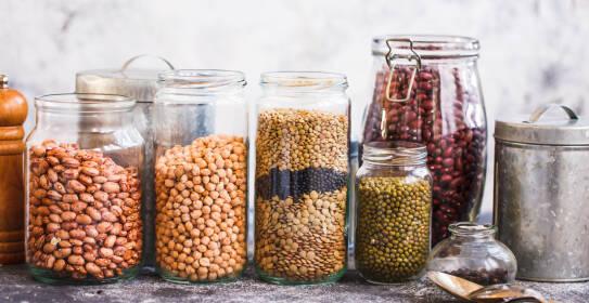 Levante Küche: verschiedene Arten von Hülsenfrüchten