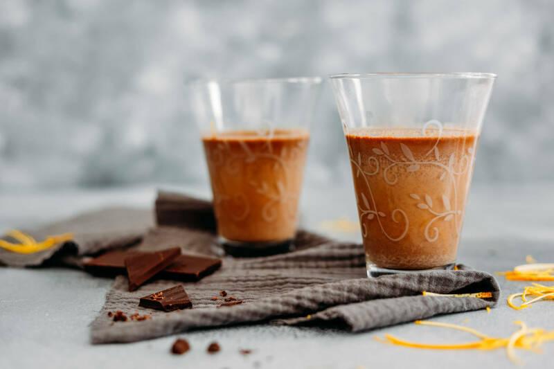 Heiße Schokolade mit Orangenlikör