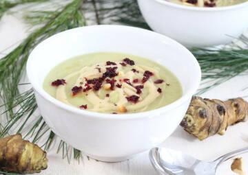 Heiße Suppenliebe: Topinambur Suppe