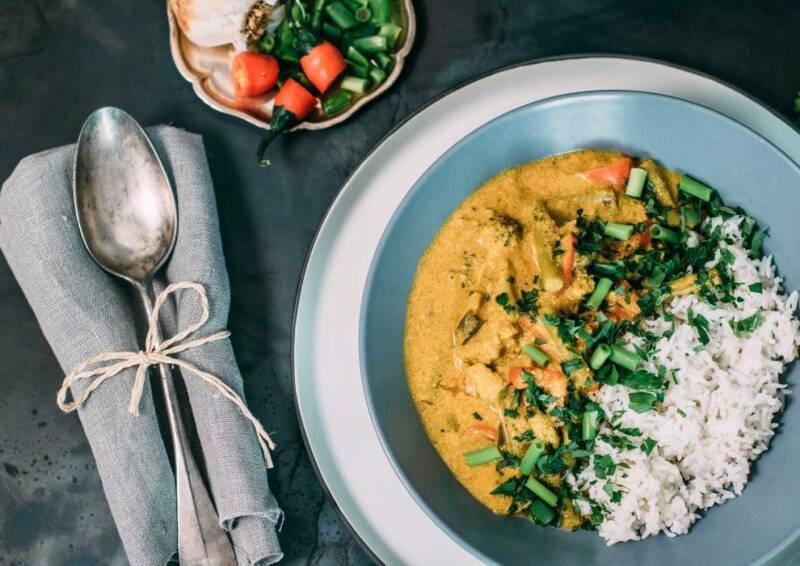 Indisches Curry mit Gemüse