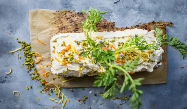 veganer Karottenkuchen mit Cashewfrosting
