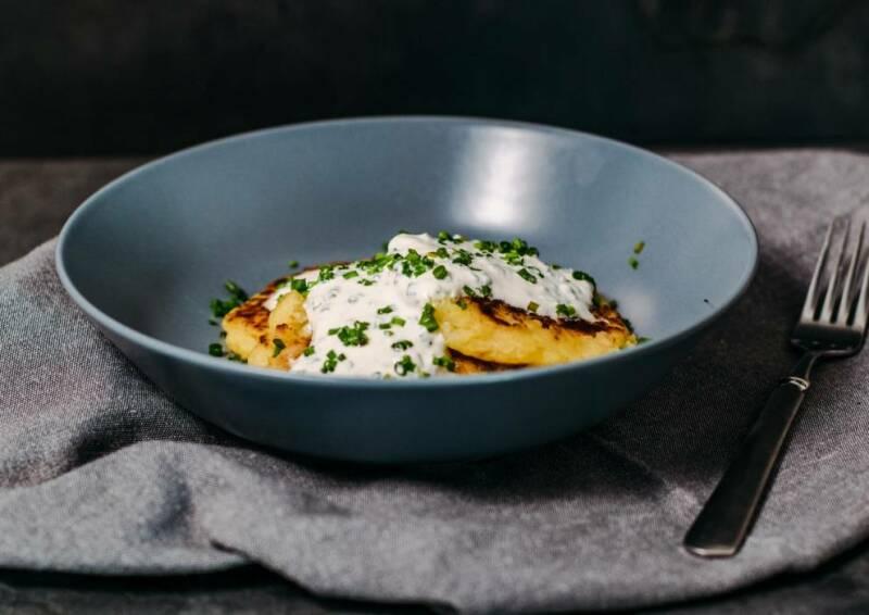 Kartoffel-Rösti mit Schnittlauchdip