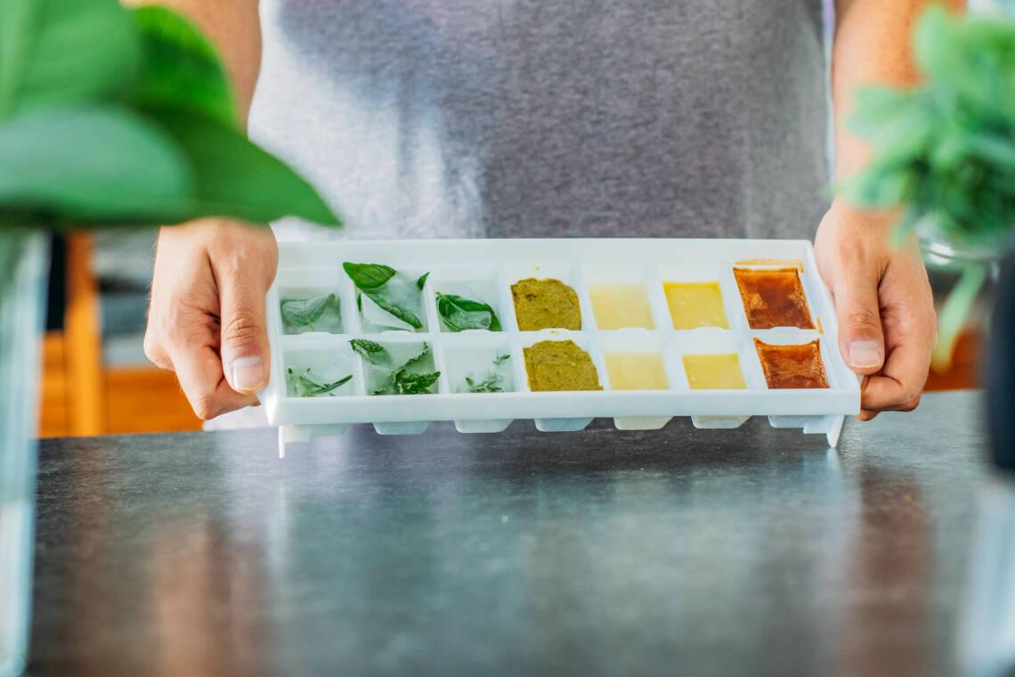 Kitchenhack: Zutaten als Eiswürfel einfrieren
