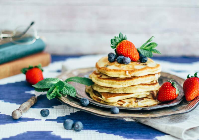 Kochen mit Aufstrichen: Beerige Pancakes