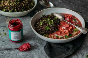 Kochen mit Aufstrichen: Beluga-Linsen-Curry