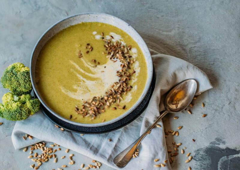 Kochen mit Aufstrichen: Brokkoli-Creme-Suppe