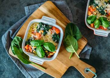 Kochen mit Aufstrichen: Gnocchi-Spinat-Auflauf