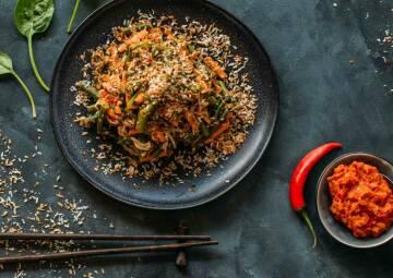 Kochen mit Kokosöl: Bohnen-Kokos-Salat mit Sambal