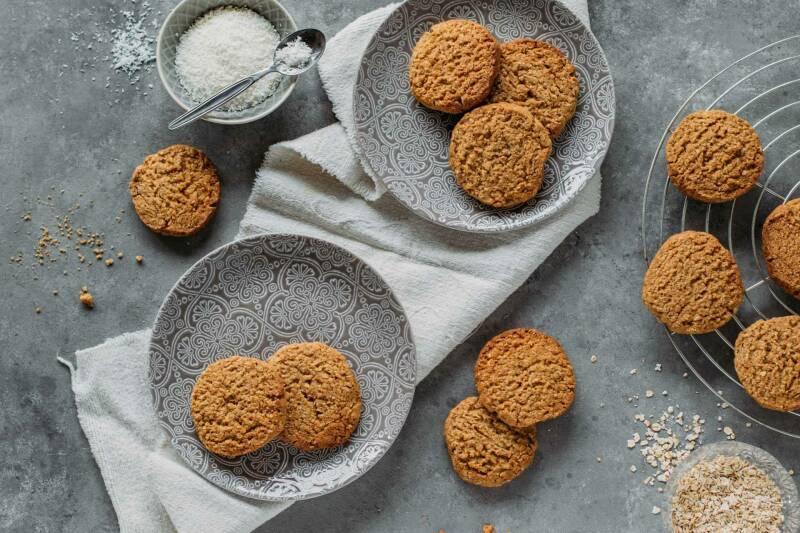 Kokos-Haferflocken-Kekse